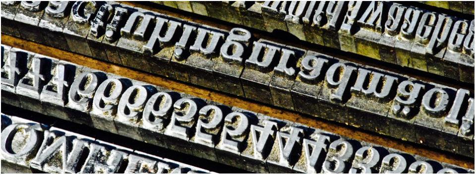 Buchstaben und Zahlen aus Blei, Akademie