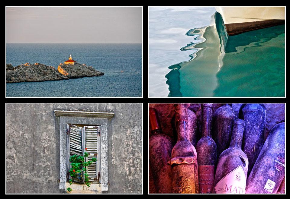 Travel Dubrovnik Fotomontage mir vier Bildern